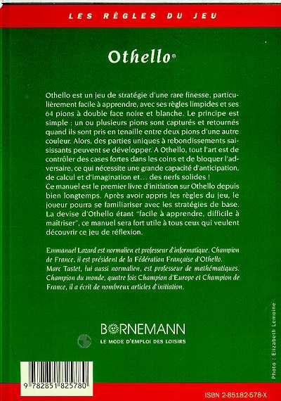Les livres sur othello f d ration fran aise d 39 othello - Livre de cuisine francaise en anglais ...